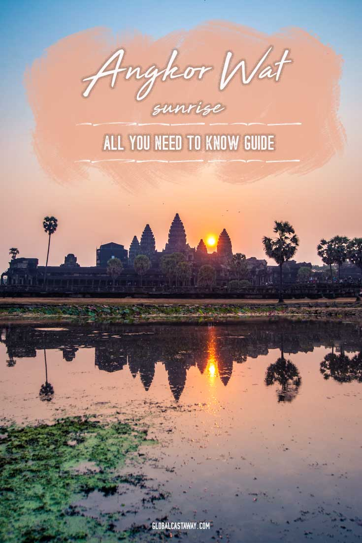 Learn how to get the best out of the Angkor Wat sunrise. See the best spots to take the iconic Angkor Wat sunrise picture and learn how to avoid any blunders on the way | Angkor Wat photography | Angrkor Wat Cambodia | Travel Asia | Travel Angkor Wat | Travel Cambodia | What to see in Asia | Bucket list asia