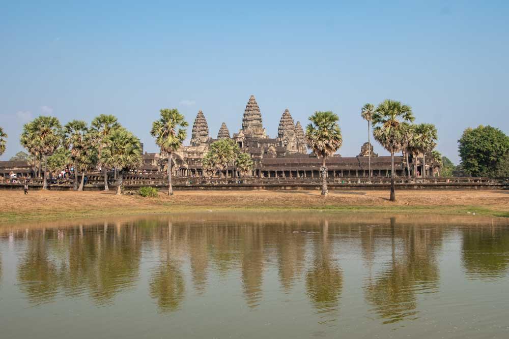 Sunrise at Angkor Wat - right pond spot