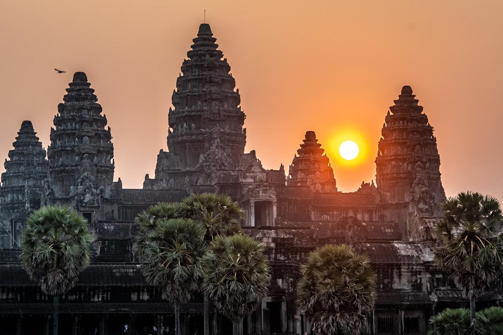 Angkor Wat sunrise close up