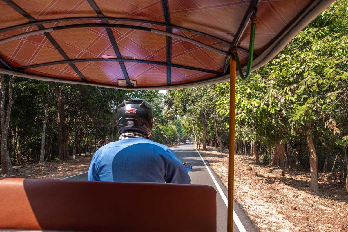 Best way to get around Angkor is via tuk tuk
