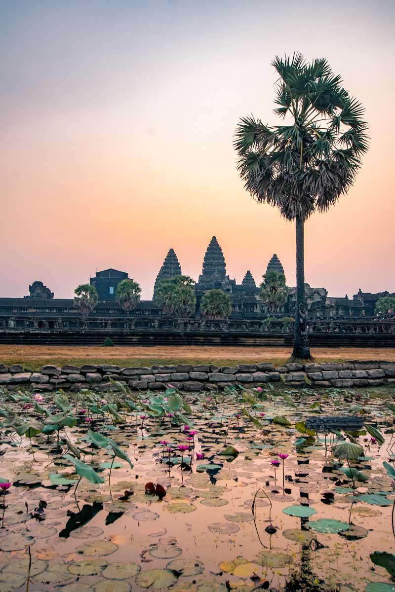 Soft sunrise at Angkor Wat