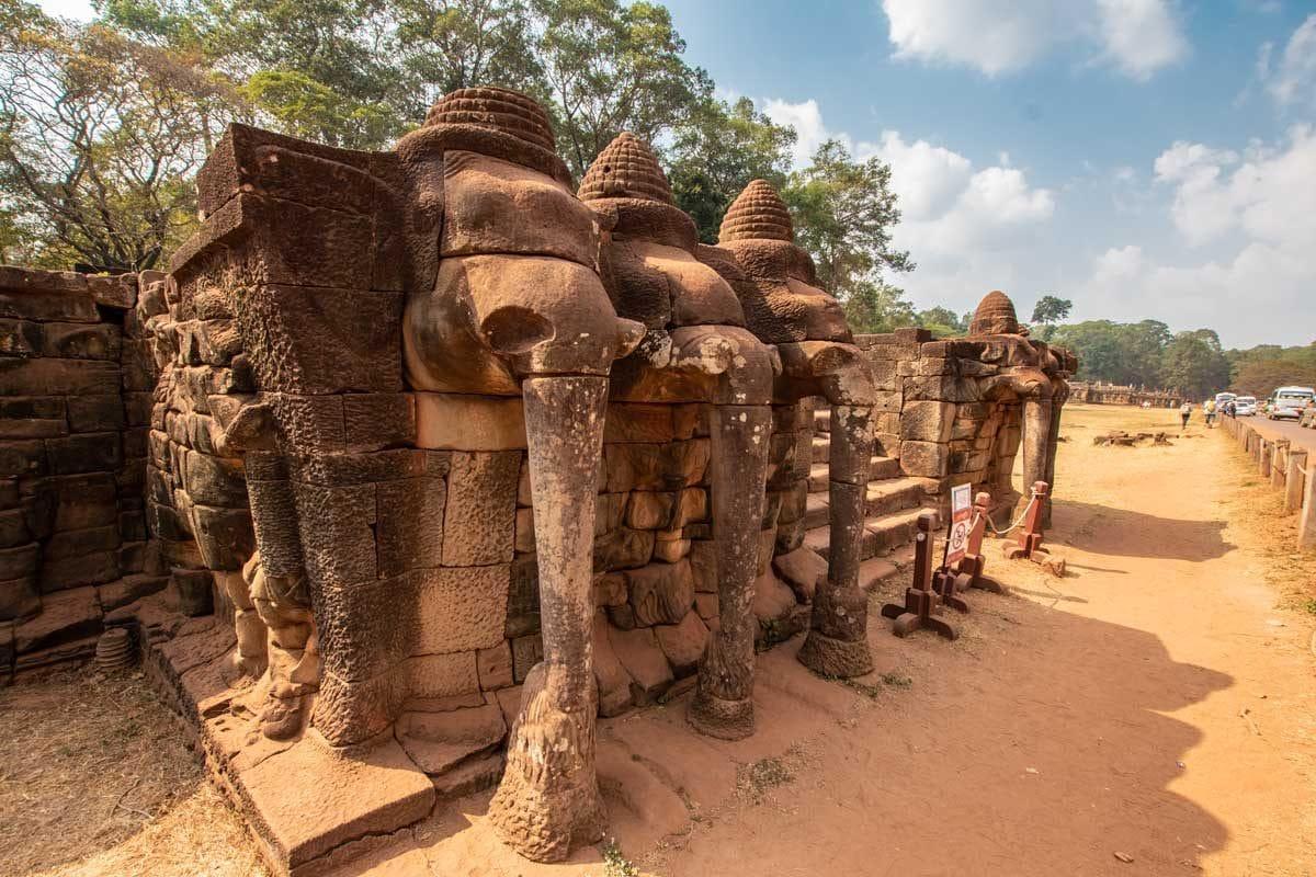 The Elephant Terrace - Siem Reap