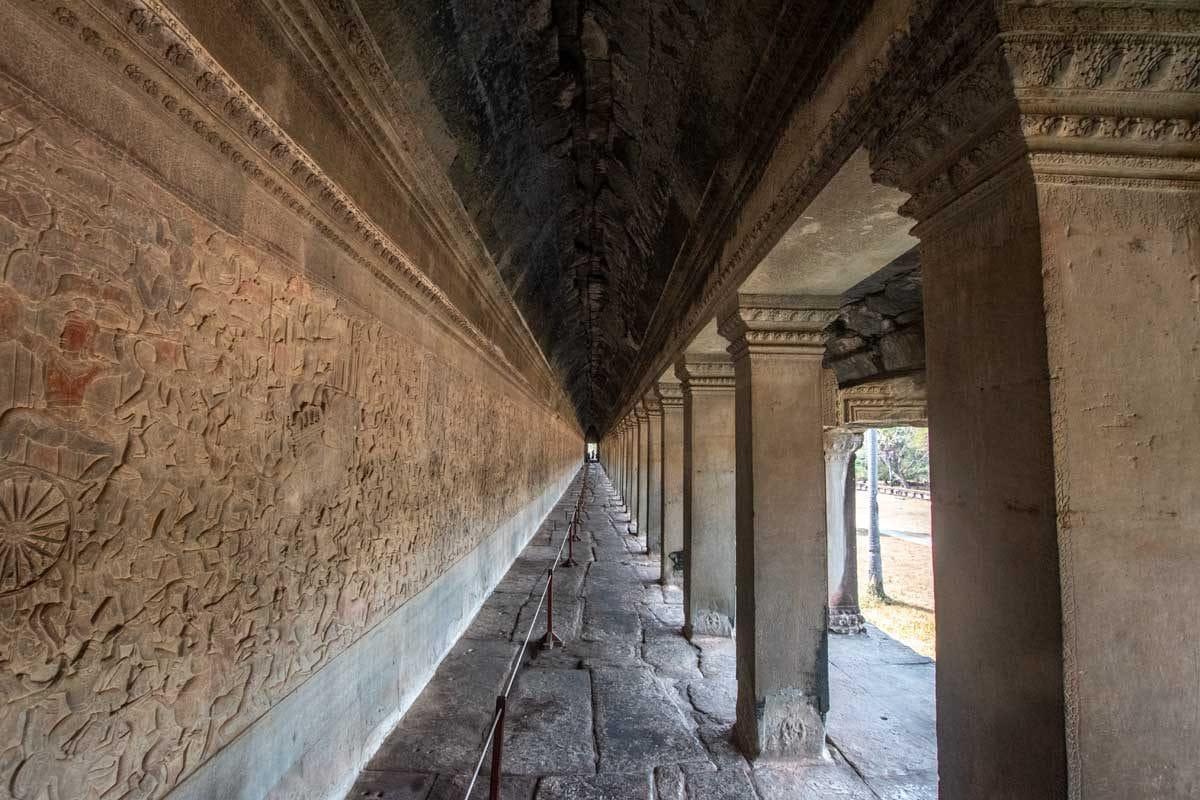 Bas reliefs of Angkor Wat