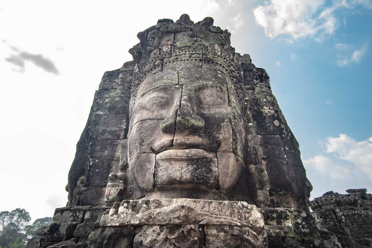 Smiling face of the Bayon Temple