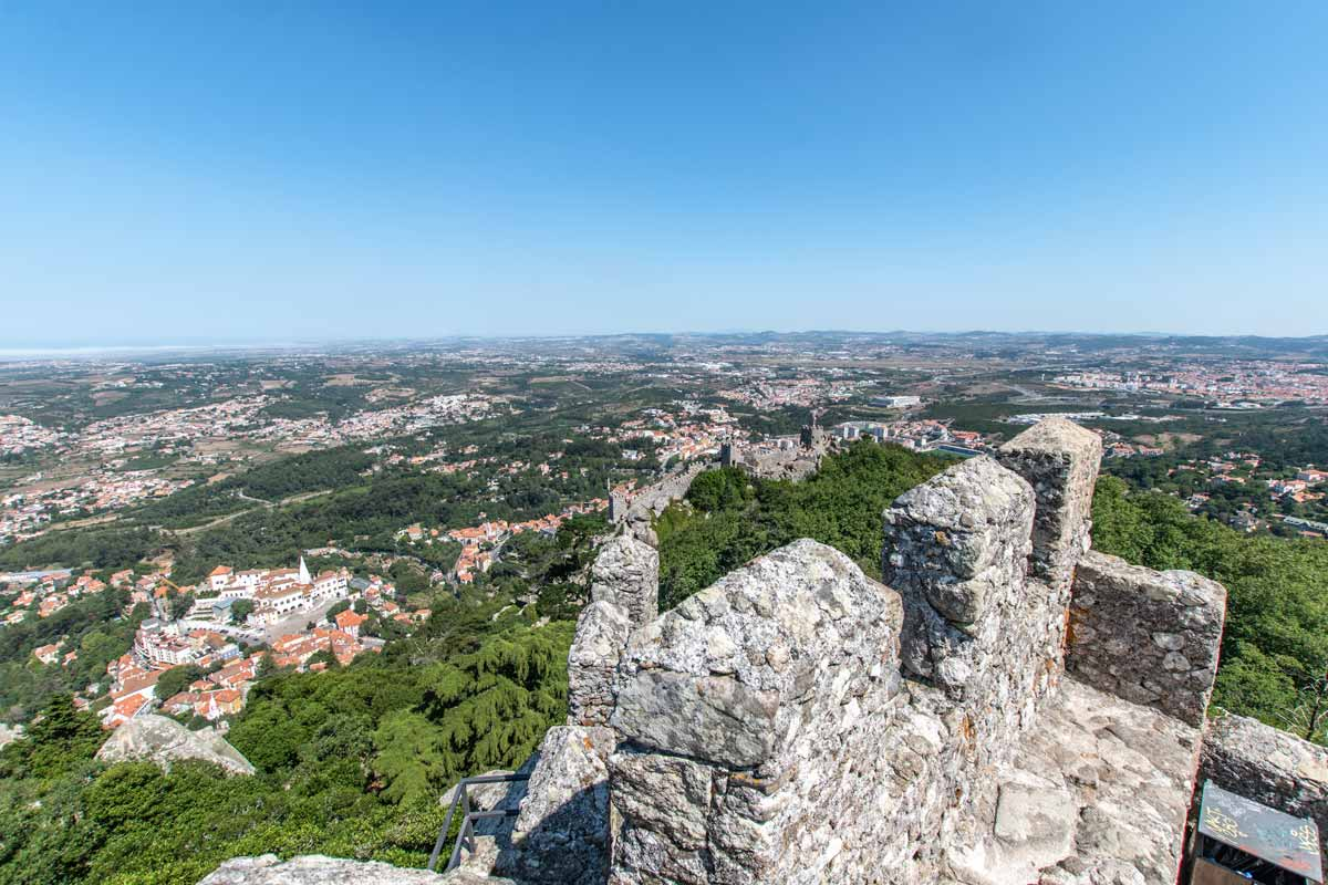 The scenic view from the Moorish Castle