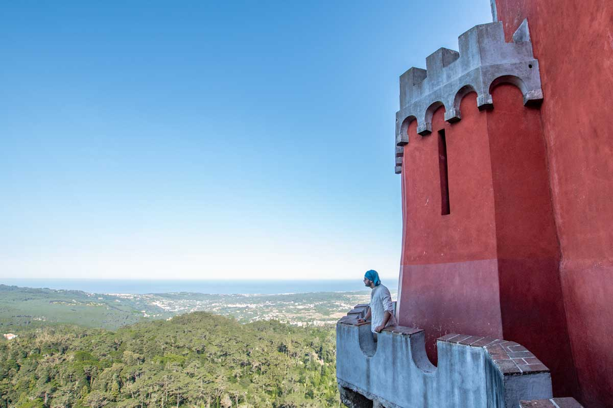 Sintra itinerary - Pena view