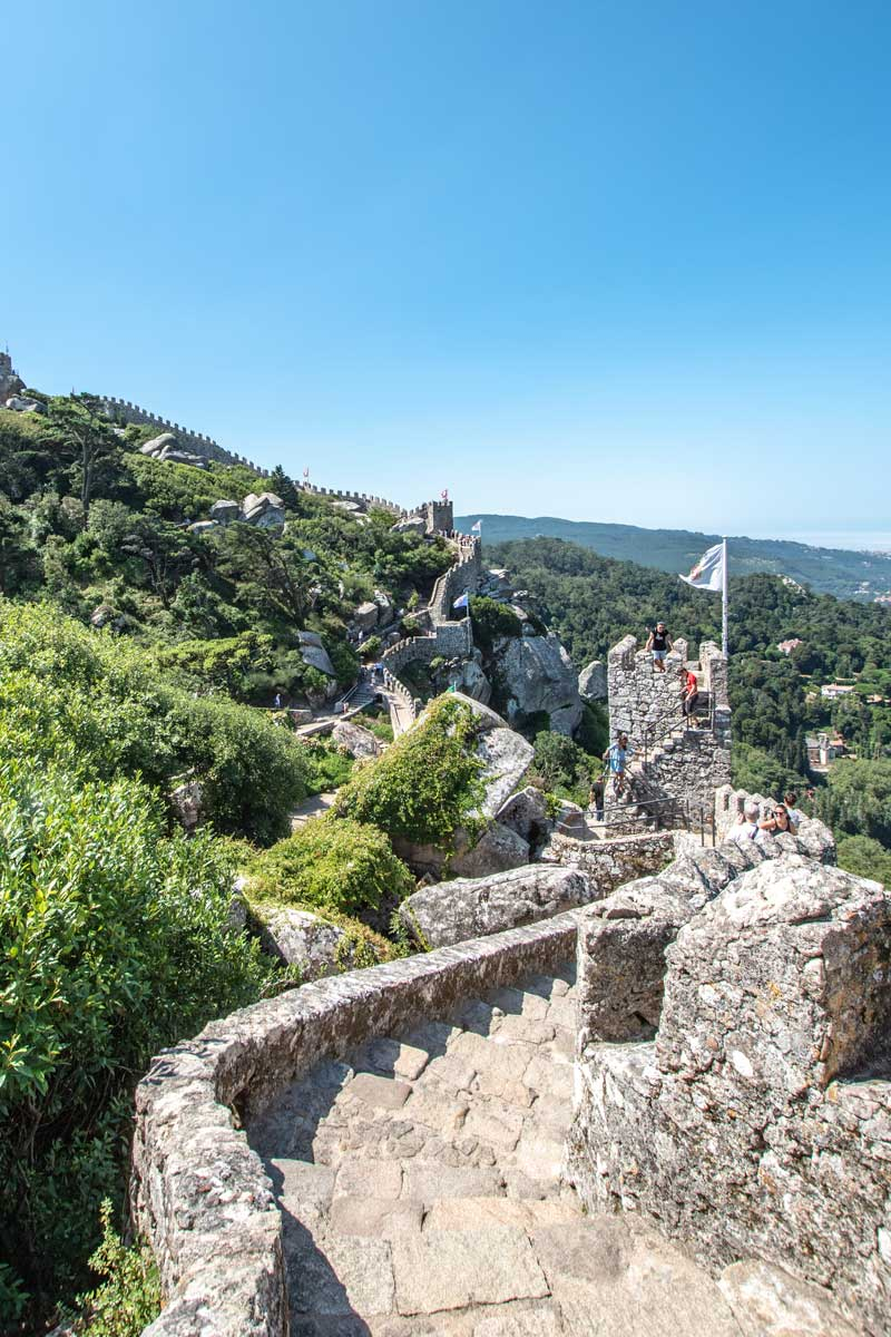 sintra itinerary the scenic walls of the moorish casltle