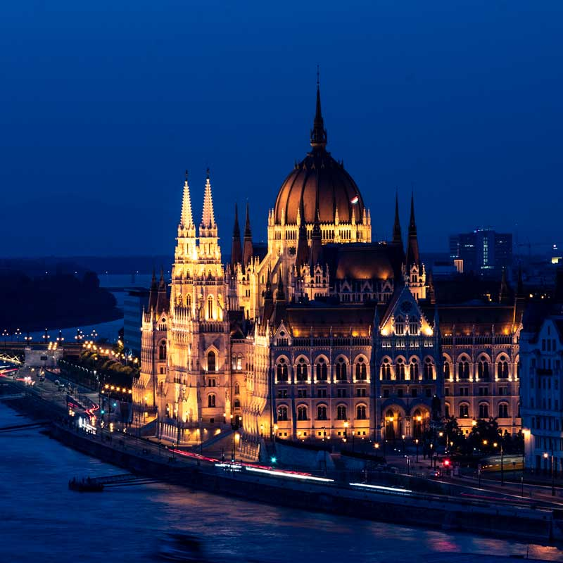 2 day Budapest itinerary - Prliament from Buda Hill