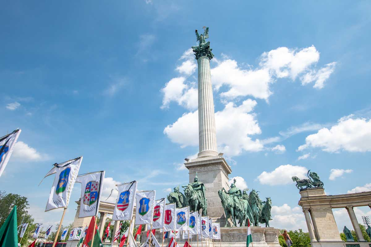 2 day Budapest itinerary - Heroes Square