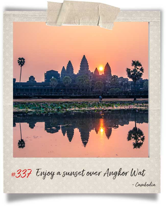 Global Castaway bucket list - sunrise in angkor wat