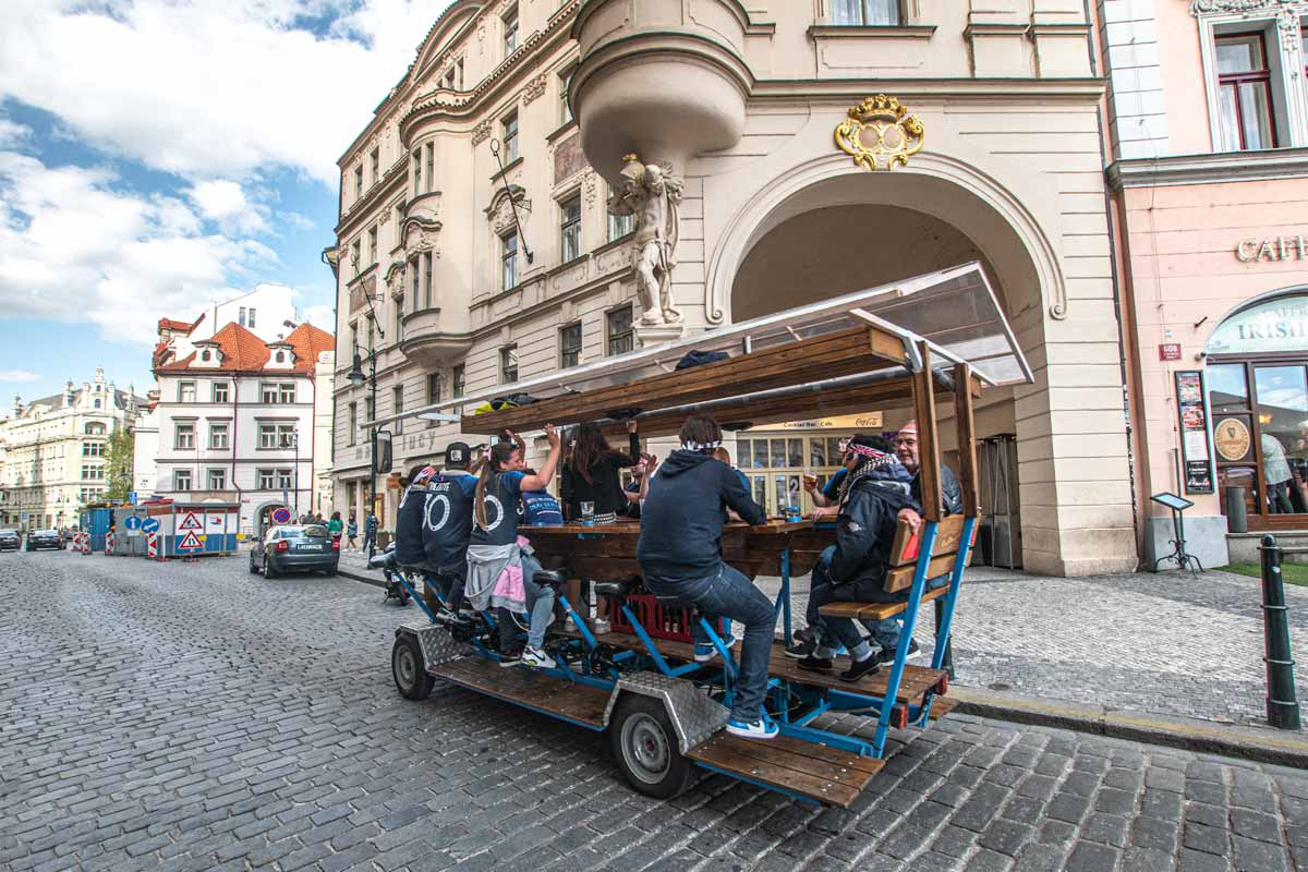 2 day Prague itinerary - Beer bike