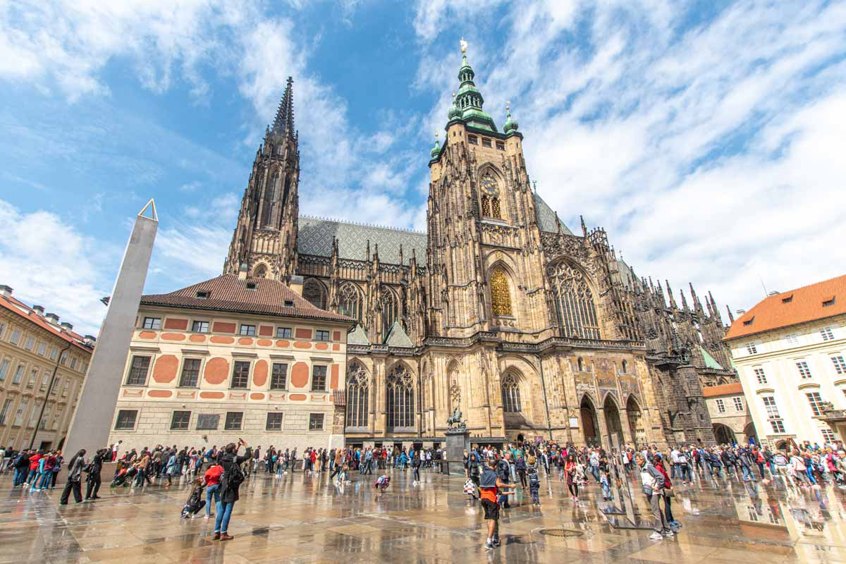 Prague's Castle Complex after rain