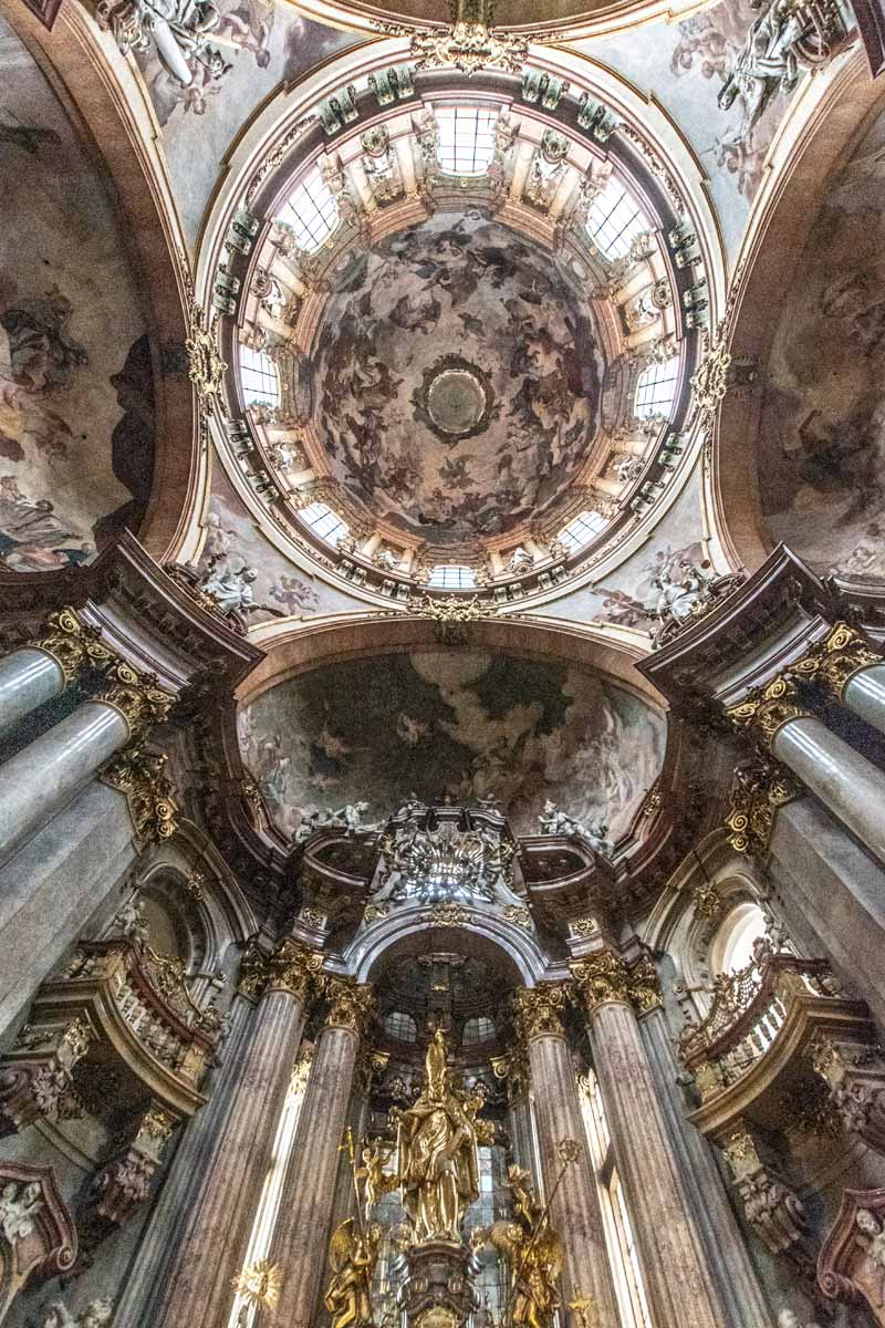 The beauty of St.Nicholas church in Prague