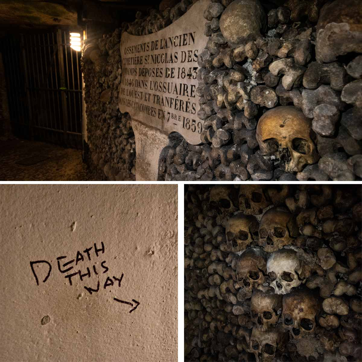 4 day Paris itinerary - inside the catacombs