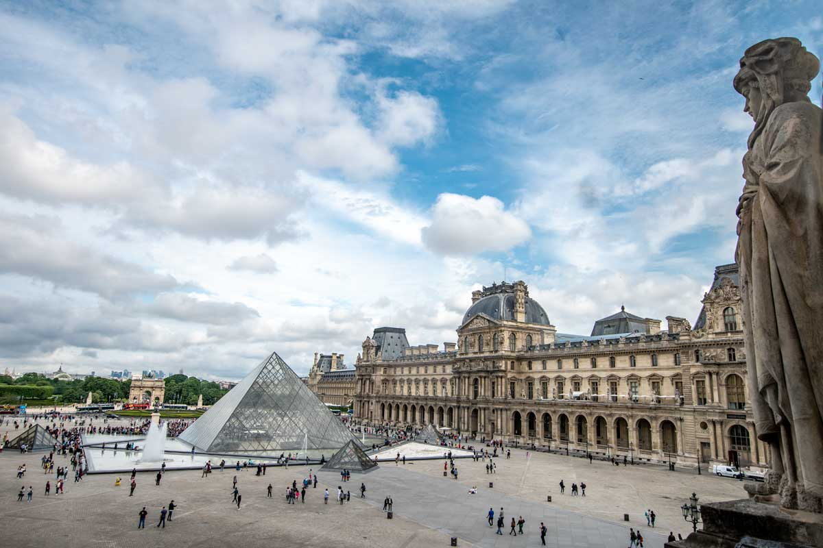 4 day Paris itinerary - the Louvre panoramic view