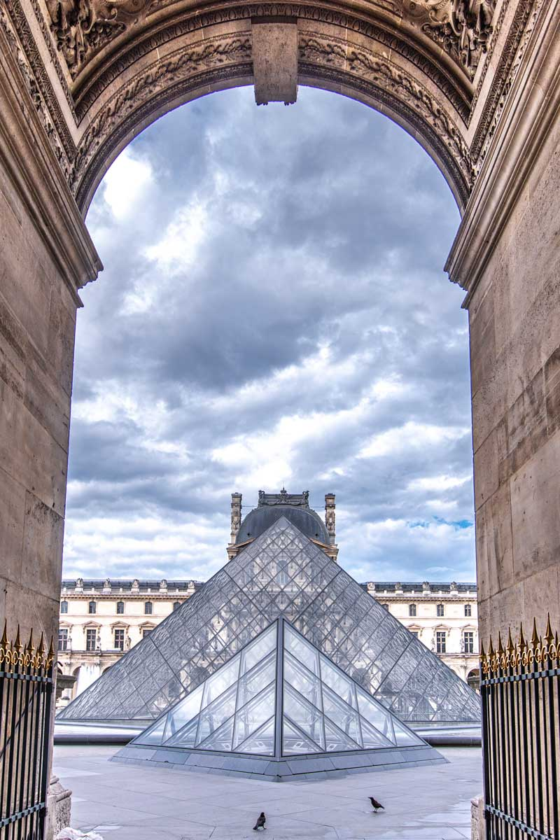 Storm clouds above the Louvre