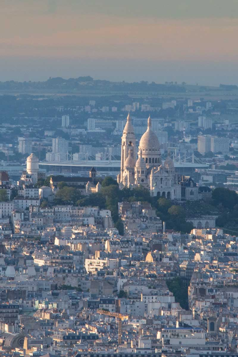 Sacre Couer view from the Montparnasse tower