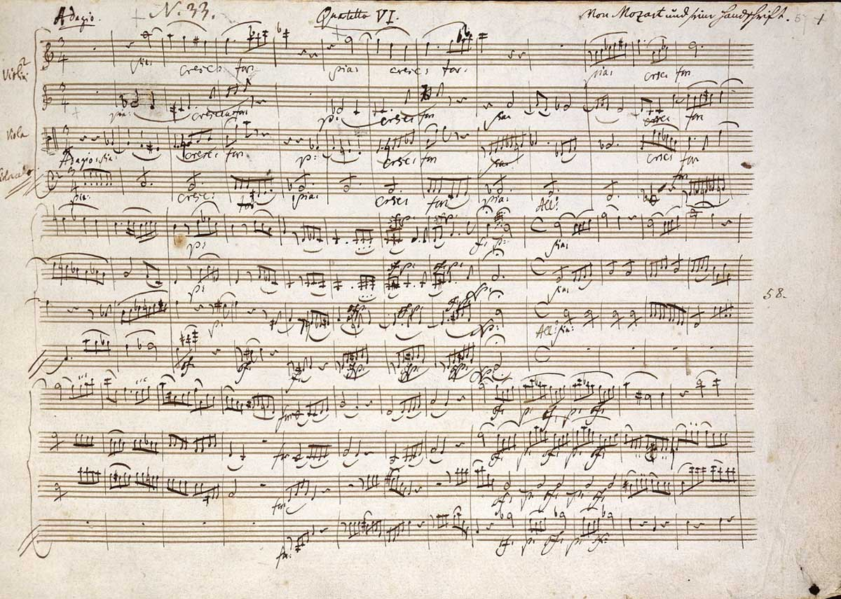 3 days in Vienna - Mozarthause manuscript