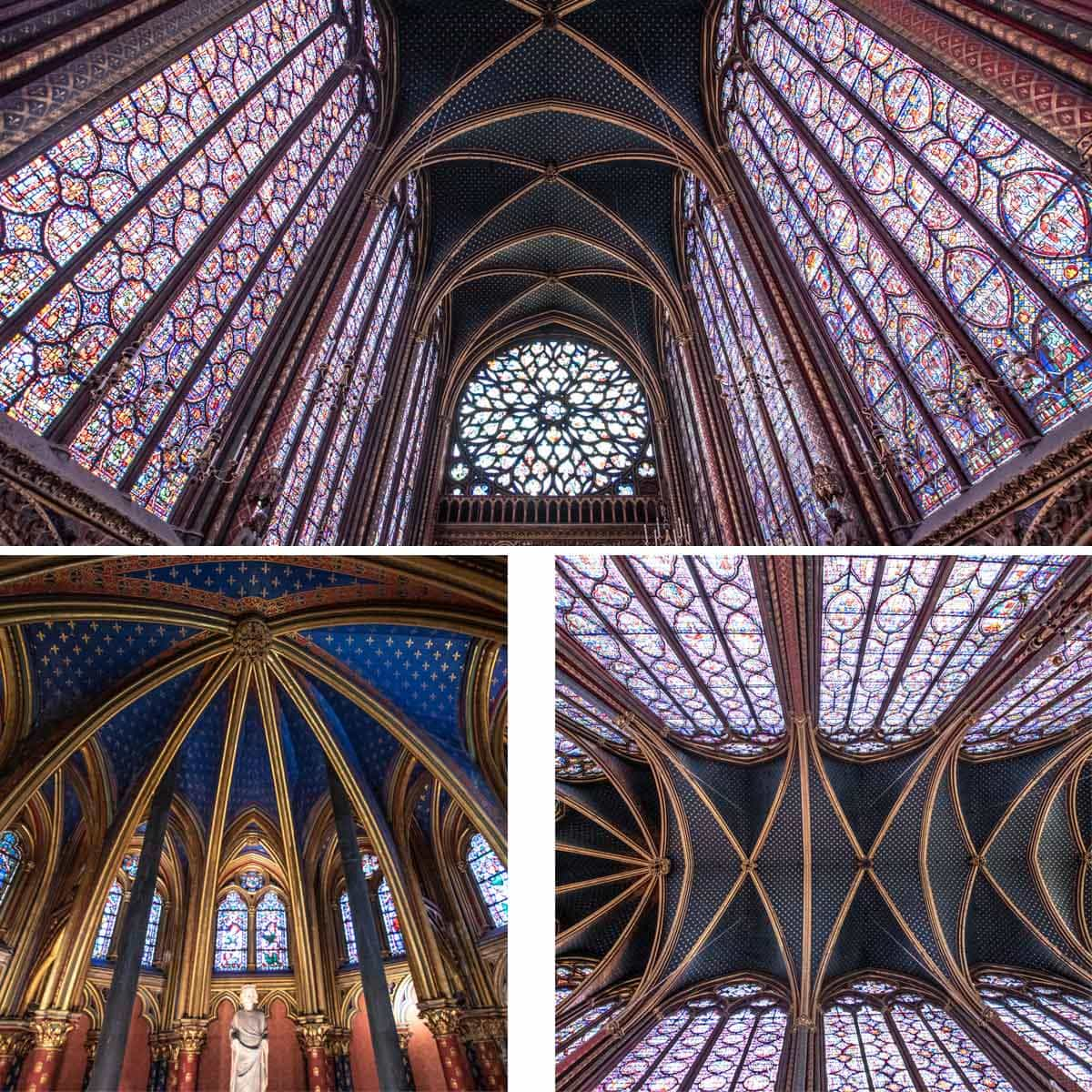 The beautiful windows of Sainte Chapelle