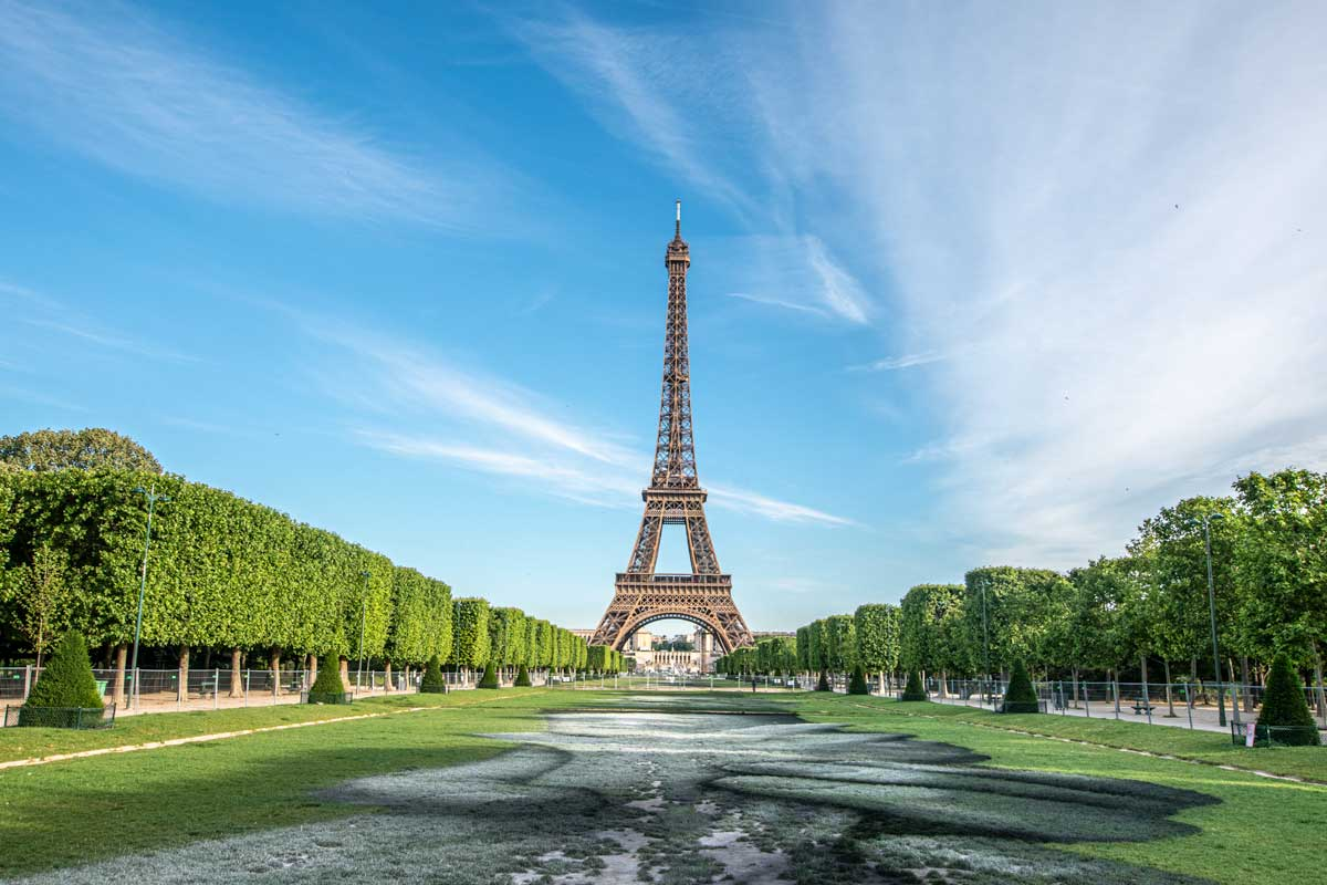 4 day Paris itinerary - Eiffel Tower landscape