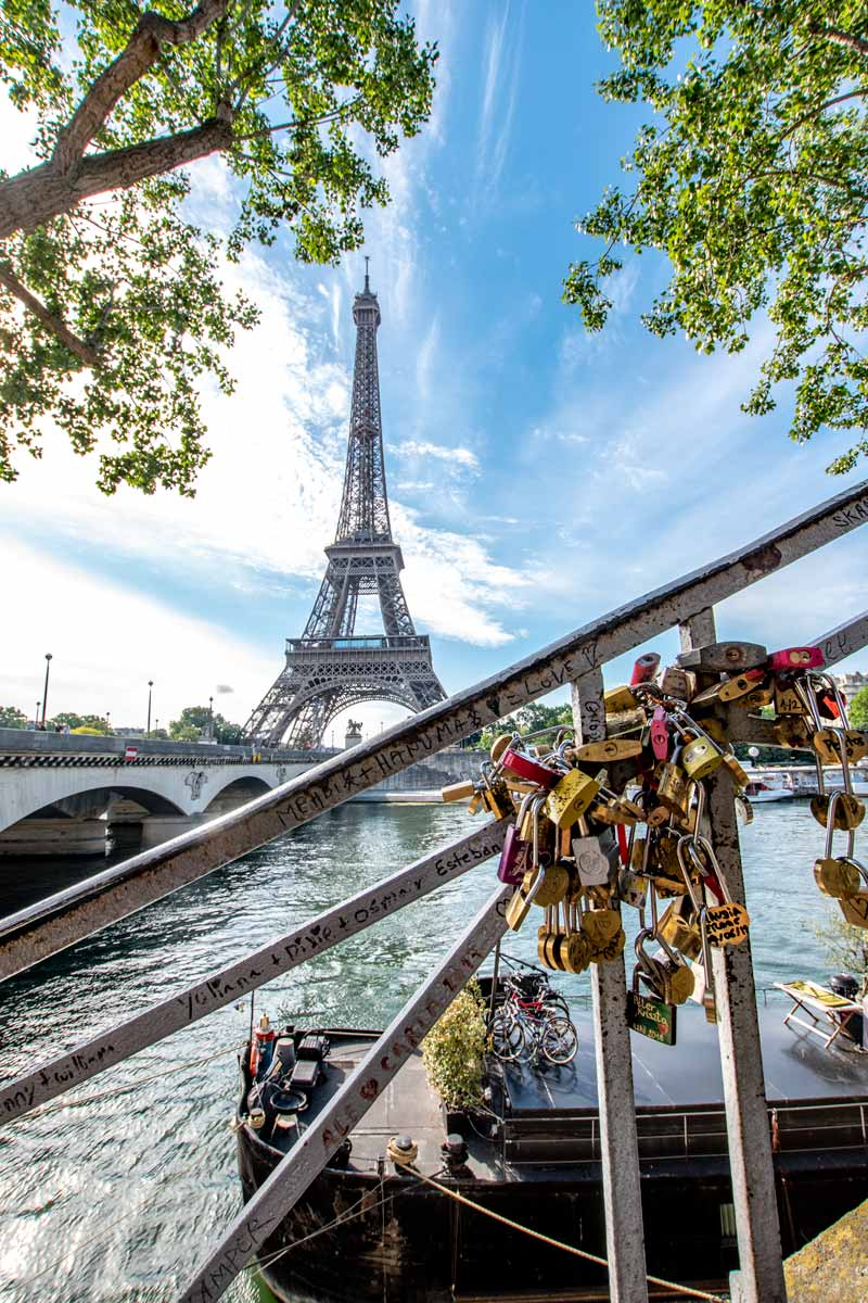 Eiffel Tower at day with Seine