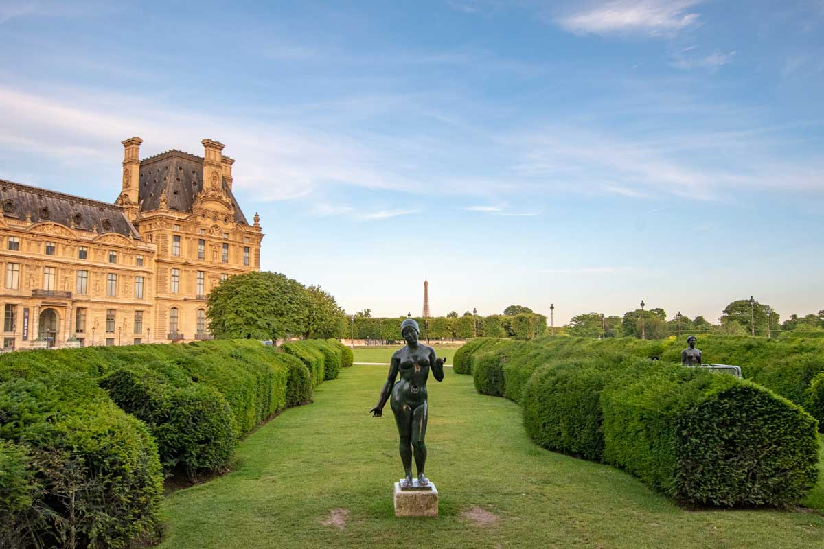 4 day Paris itinerary - the garden of the tuileries
