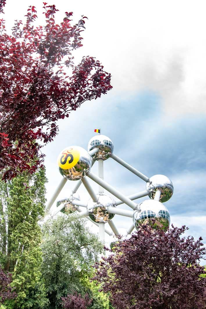 2 day Brussels itinerary - Atomium from the distance