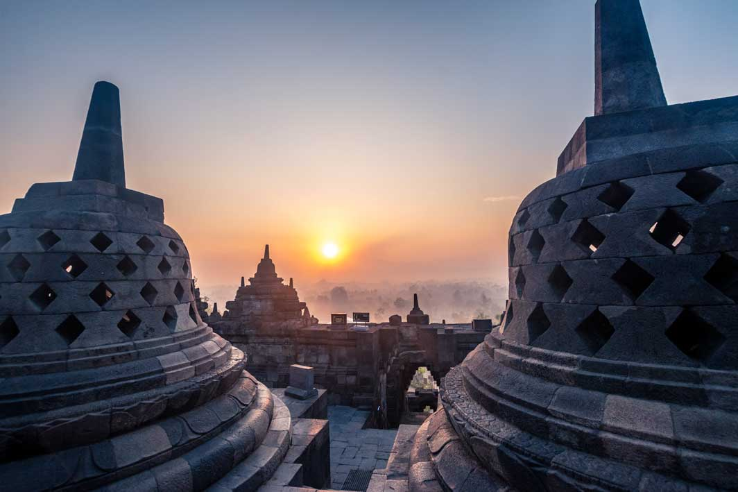 Historical places in the world - Borobudur, Indonesia
