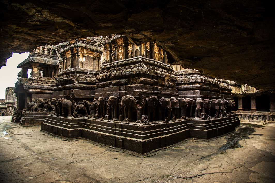 historical places in the world - Ellora Caves, India
