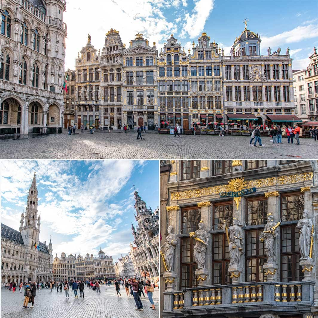 2 day Brussels itinerary - Grand Place collage of photos