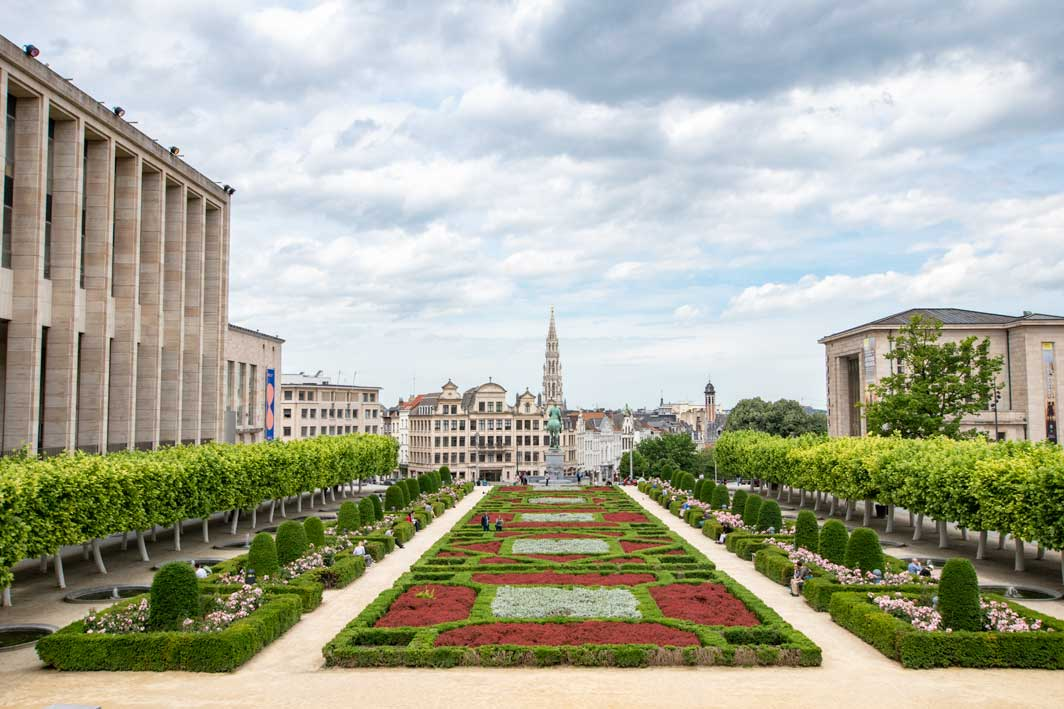 Mont Des Art in Brussels - panorama photo