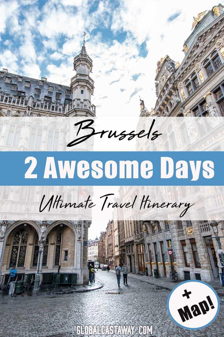 Spend 2 days in Brussels the best way possible by following this Brussels itinerary! Best things to do in Brussels travel guide that will help you plan your weekend trip. Visit the Grand Place, Manneken Pis, The Atomium and many more. Includes a map of what to do in Brussels in two days and many more Brussels travel tips. #Brussels #belgium #europetravel #brusselstravel
