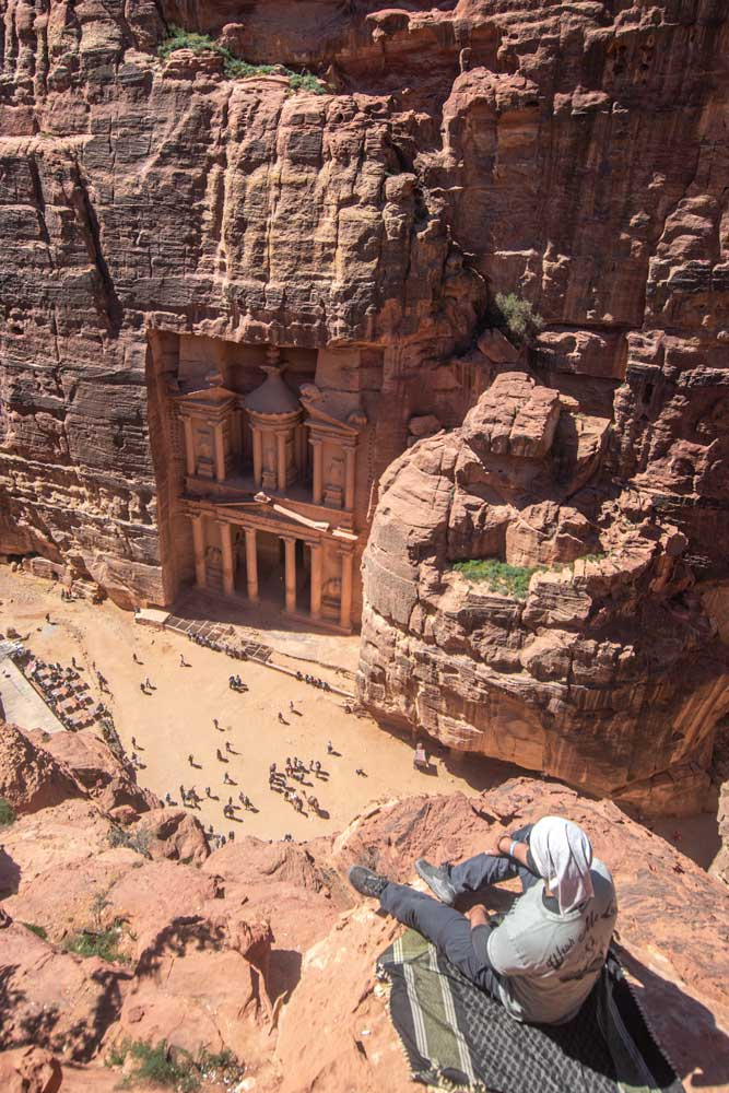 best photo spots in Petra - Petra from above