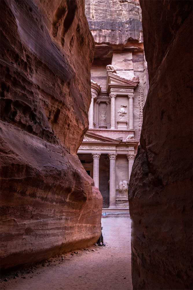 best photo spots in Petra - Indiana Jones shot at the end of the Siq