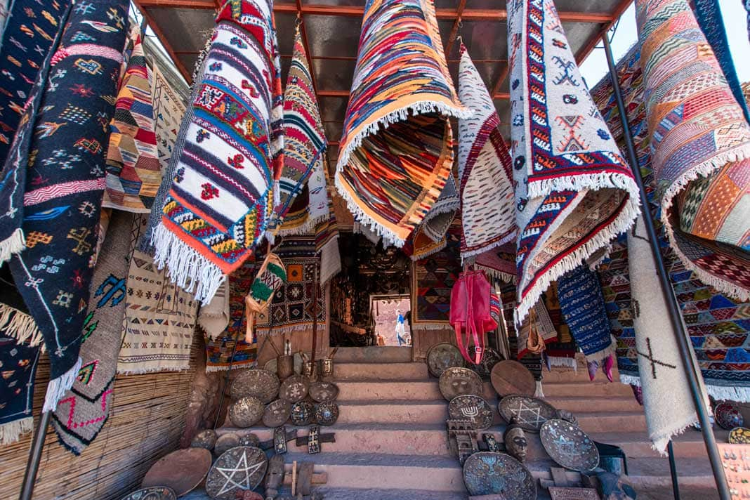 Carpet shop in Morocco