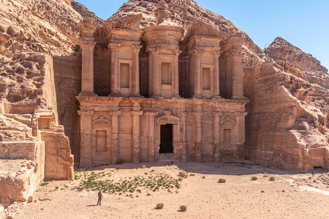 best photo spots in Petra - front shot of the Monastery