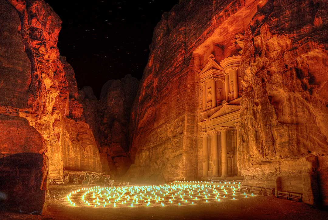 Petra by night shot