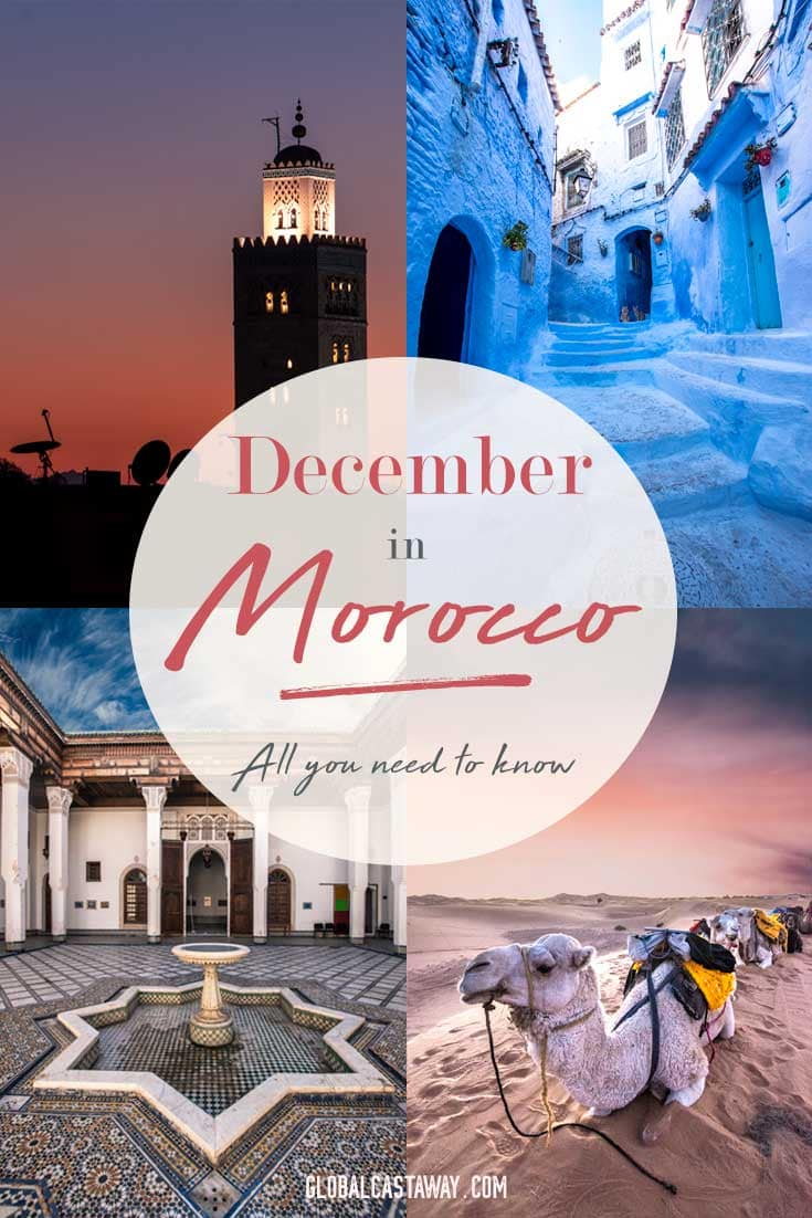 You plan to travel to Morocco in December? Good choice! Check out what weather to expect in December in Morocco, useful info about popular destination to visit in Morocco in December and all events there are in December in Morocco.