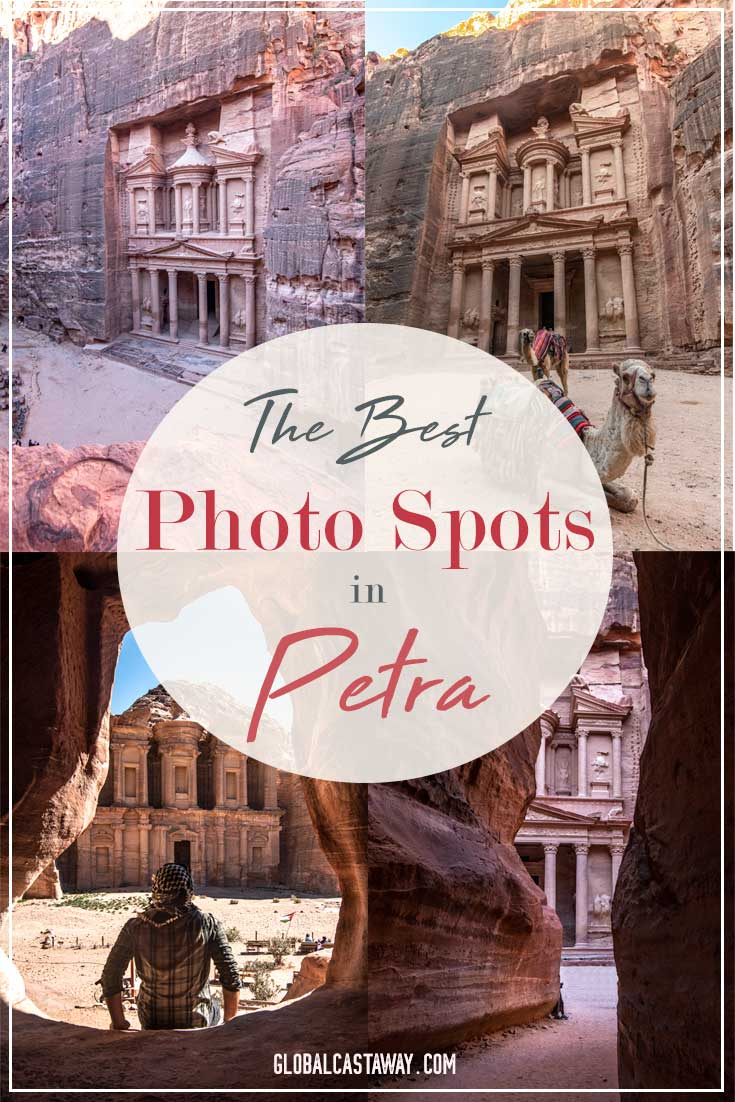 A detailed Petra photo guide to help you get the best photo of Petra. Discover the Treasury, the Monastery, tthe Royal Tomb and learn how to shoot Petra from above for free. A Petra photo guide featuring photo tips and a map of Petra to help you find all the best photo spots in town. #petra #Travelpetra #photoguide #worldwonders