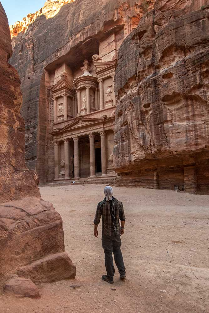 best photo spots in Petra - the shot from the side