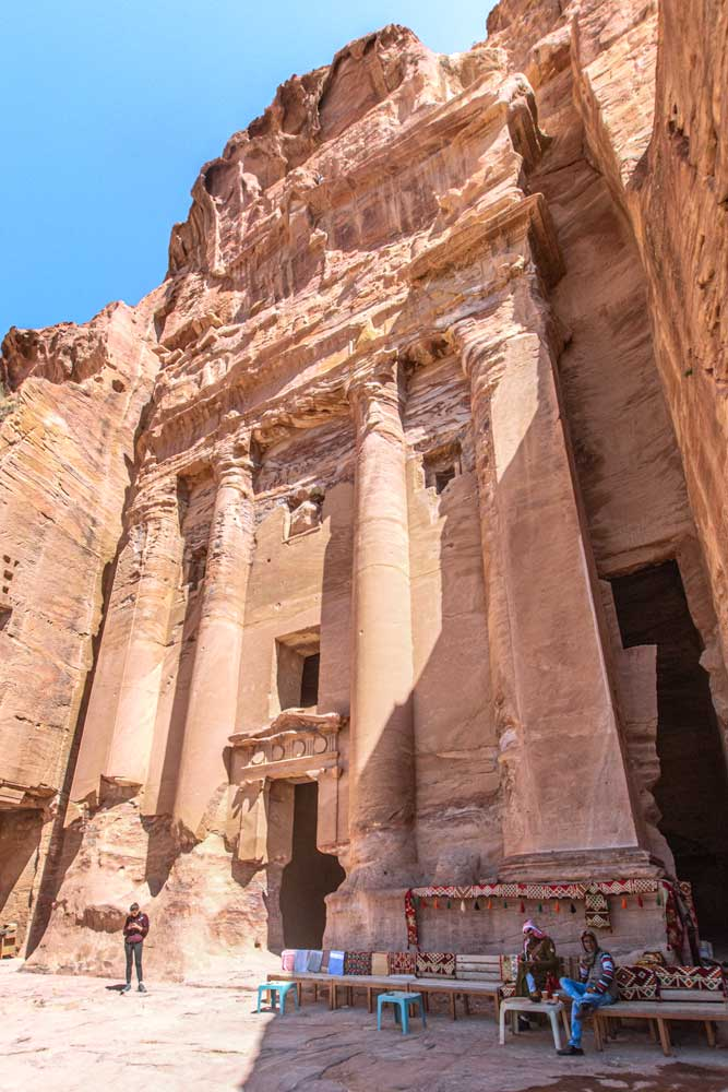 best photo spots in Petra - the Urn tomb