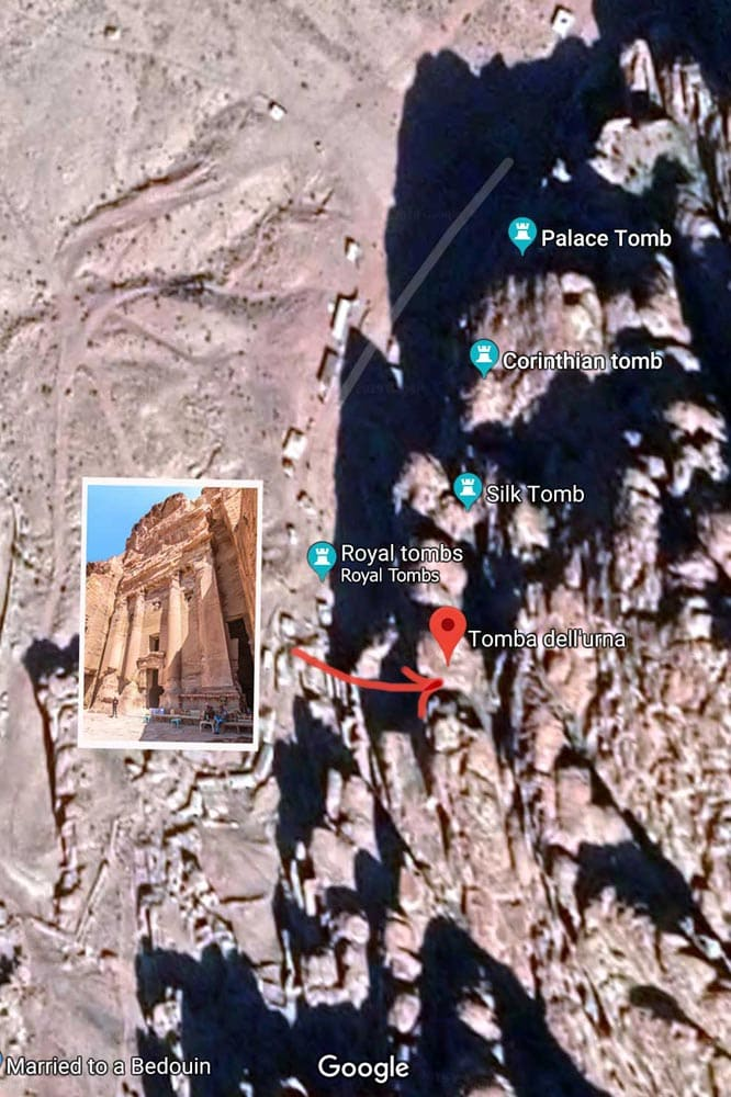 Petra photo map - Urn Tomb