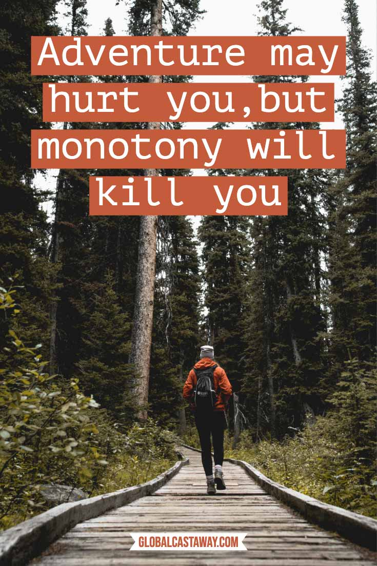 adventure-may-hurt-you-but-monotony-will-kill-you-on-forest-background