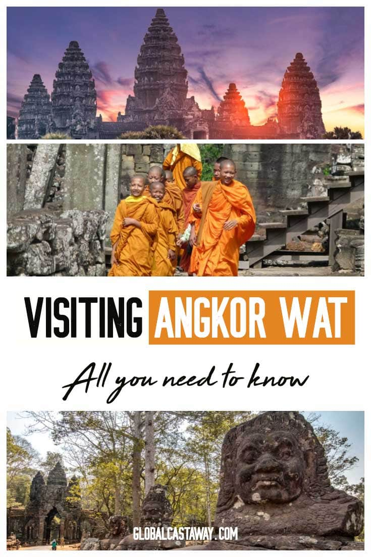 Explore Angkor Wat Cambodia the best way possible. All the info you to for your Angkor Was travel and useful tips to avoid the crowds. Complemented with stunning Angkor Was photography. #Angkorwat #Angkorwattravel #angkorwatphotograpgy #globalcastaway