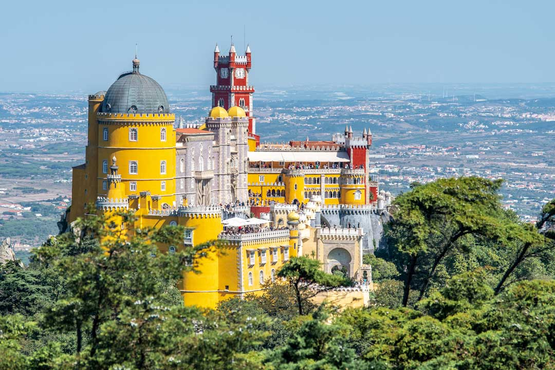pena palace from afar