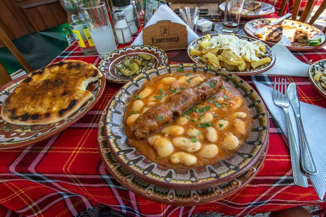 traditional bulgarian food close up