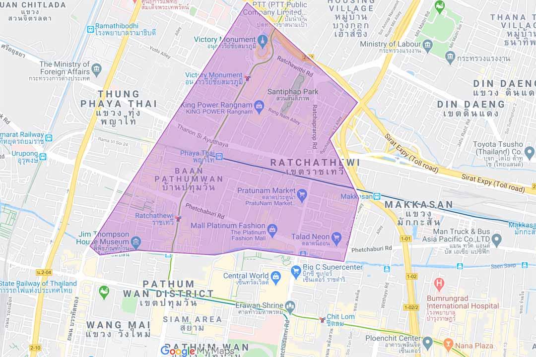 pratunam-map
