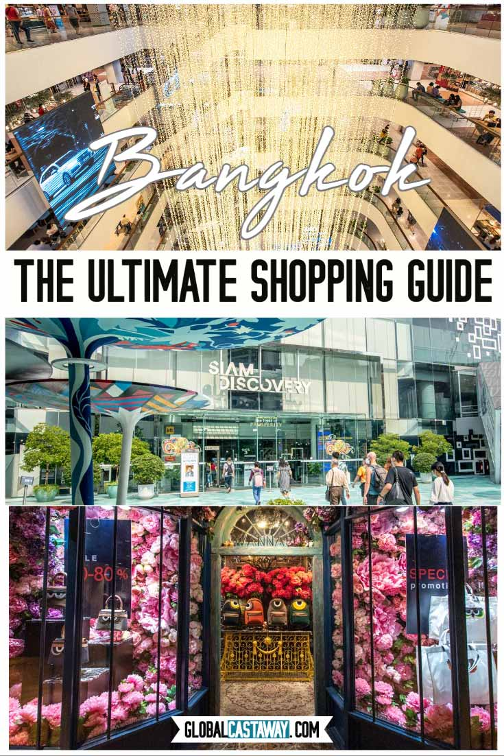 where to go shopping in Bangkok pin