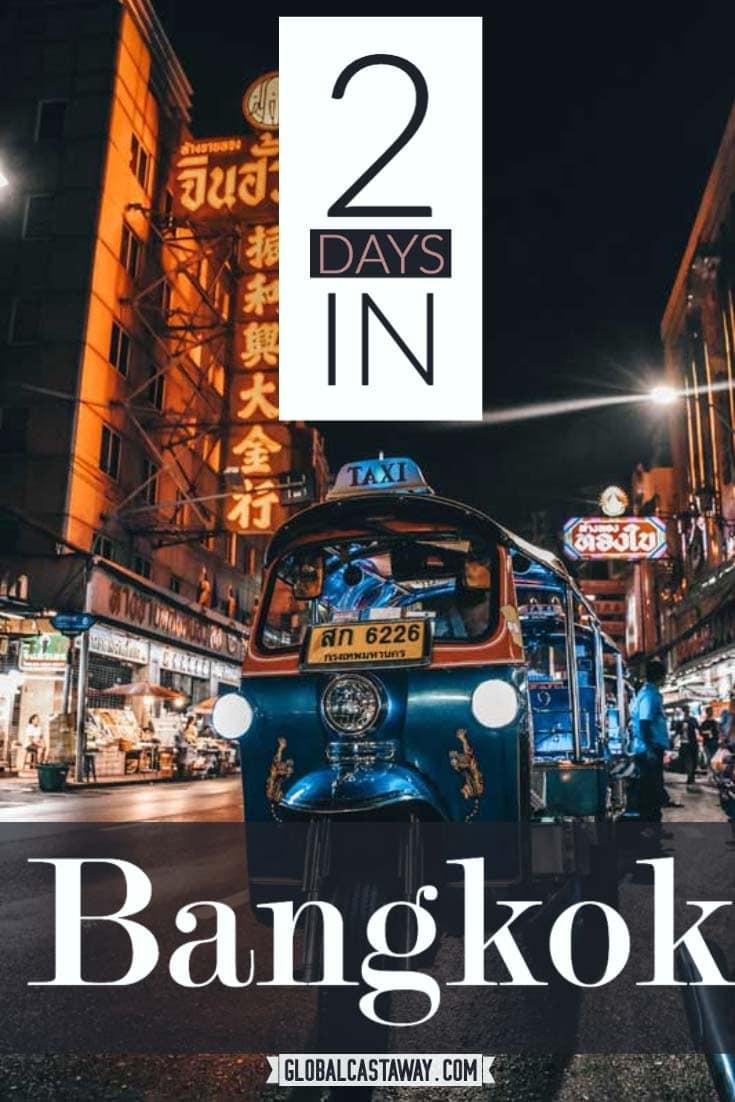 2 day bangkok itinerary pin