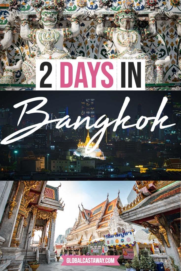 2 days in bangkok itinerary pin